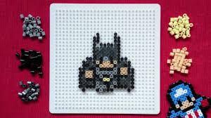 Mini Perler Bead Patterns Custom Perler Bead Tutorial Mini DC Batman YouTube