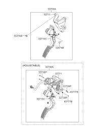 accelerator pedal for 2007 hyundai azera hyundai parts deal 2007 hyundai azera accelerator pedal diagram 3232711