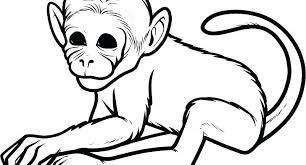 Free Cute Monkey Coloring Pages Monkey Coloring Pages Free Book Plus
