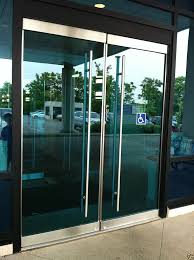 perfect glass door pull handle stainless steel entry entrance front frameless glass door