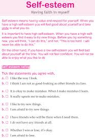 Self Esteem For Teens Worksheets Worksheets for all | Download and ...