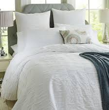 textured white duvet cover queen