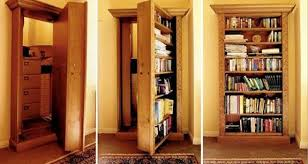 hidden wall door. add a hidden door to your house wall