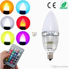 3w rgb led light bulb e12 flash color changing chandelier candelabra candle lamp with 24key remote controller lighting ac85 265v e12 led bulb e11 led bulb