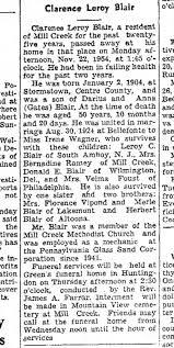 Clarence Leroy Blair: obituary - Newspapers.com