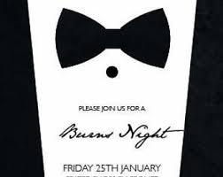 Black Tie Invitation Etsy