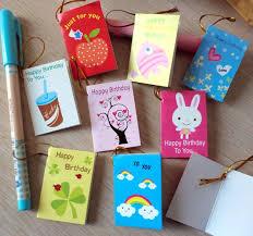 64pcs Lot Creative Cartoon Mini Small Greeting Cards For