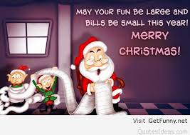 funny santa merry christmas sayings