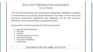 International Distribution Agreement Template Distribution Agreement