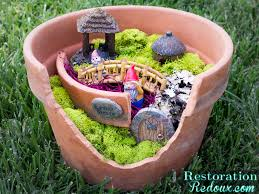 fairy garden pots. Flower Pot Fairy Garden Restoration Redoux Pots