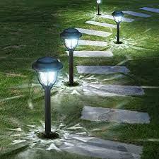 waterproof solar powered pathway lights