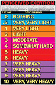 Details About Fitness Workout Rating Of Perceived Exertion Scale Gym Wall Chart Poster