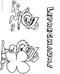 These saint patricks day pages of leprechauns, shamrocks and pots of gold are free and printable! Leprechaun Coloring Pages For St Patrick Day