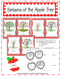 Apple Tree Pocket Chart Seasons Of The Apple Tree Printables And Activities Every