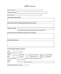 Travel Request Form Template Relevant Foreign 3 Simple Addition With ...