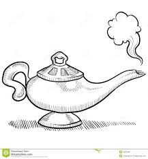 Huge Collection Of Genie Lamp Drawing Download More Than 40
