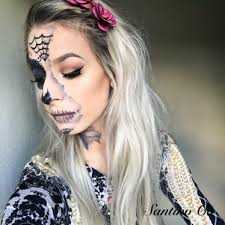 you want since it s a sugar skull you can really go ham with color if you want i did my normal makeup in the glamour side making sure everything