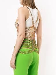 AREA Layered Crystal Vest - Farfetch   Fashion design, Slim fit ...