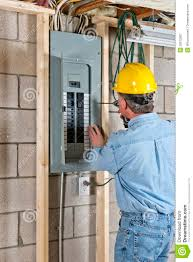 Construction Electrician Electrician Contractor Construction Worker Stock Image