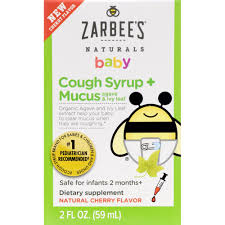 Zarbees Baby Natural Cough Syrup Mucus Cherry 4 Fl Oz Box
