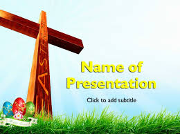 Easter Cross Powerpoint Template Free Download