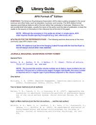 Apa Format6th Edition