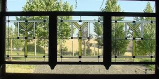 3 antique american stained glass chicago bungalow windows circa 1920 with iridized gold accents