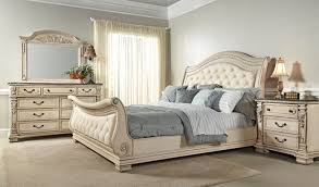 Home Furnishings Fairfax Home Furnishings Alexandra Sleigh Bedroom Set In Creamy Bisque