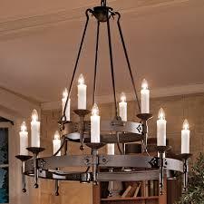 Großer Geschmiedeter Kerzen Leuchter Mit Strahlern Nach