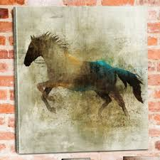 shadow rider horse canvas wall art western bedroom raelin inside most up to date on shadow rider horse canvas wall art with view gallery of horses canvas wall art showing 2 of 15 photos