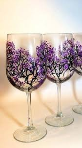 diy painted wine glass these are so neat cool stuff painted wine glasses hand painted wine