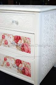 how to wallpaper furniture. love the glass knobs u0026 paintable embossed wallpaper for my furniture sweet cottage chic dresser with roses how to