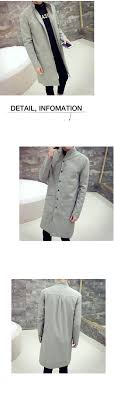 big size xl men s trench coats england man s single ted long pea coat trench slim fit