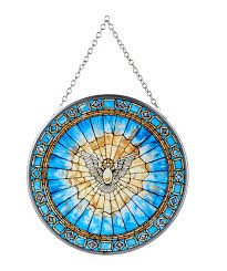 holy spirit suncatcher to hang or stand