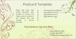 free postcard template for word 9 best images of free postcard templates for word post card
