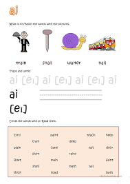 Worksheets/suggestions/vowel Combinations