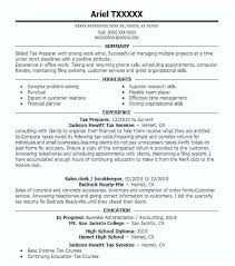 Tax Preparer Resume Samples Tax Preparer Resume Functional Resume Tax Preparer Results Http Www