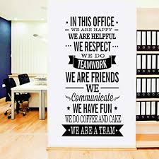 large office inspirational quote wall poster vinyl wall stciker decals art office wall d cor on wall art office with amazon large office inspirational quote wall poster vinyl wall