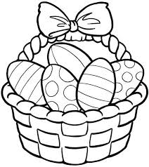 Bunny with basket and chick. Coloring Pages Free Easter Printable Coloring Pages