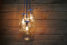 Glass Bottle Lamps Contemporary Clear Glass Bottle Pendant Lamps Feature Iron Chain