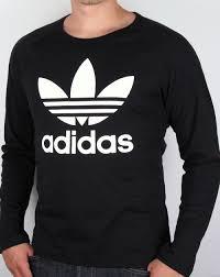 adidas long sleeve. adidas originals trefoil long sleeve t-shirt black