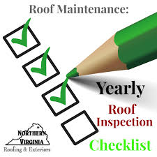 Yearly House Maintenance Roof Maintenance Yearly Roof Inspection Checklist