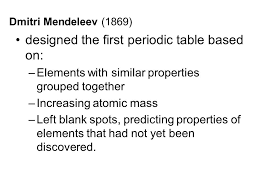 Periodic Table Museum. HISTORY John Newlands (1864) proposed an ...