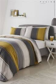 Yellow gray bedding Better Homes Fusion Betley Duvet Cover And Pillowcase Set Nextcouk Yellow Bedding Yellow Bedding Sets Next Official Site