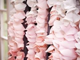 Paper Flower Backdrop Garland How To Make Ombre Crepe Paper Garland For A Backdrop Snapguide