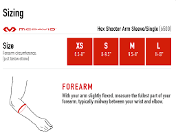 Mcdavid Compression Arm Sleeve Sizing Chart Hex Shooter Arm Sleeve