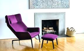 purple chair and ottoman accent with velvet tufted occasional