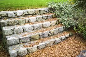 magnificent backyard stone step ideas