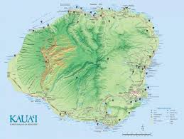kauai island maps  geography  go hawaii