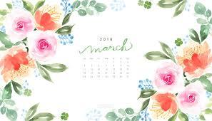 save march 2018 calendar computer wallpaper